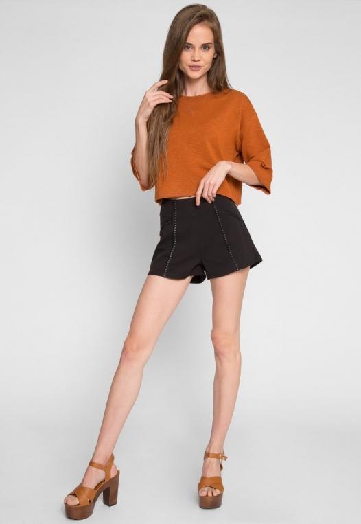 Zenith Crop Sweatshirt in Brown alternate img #4