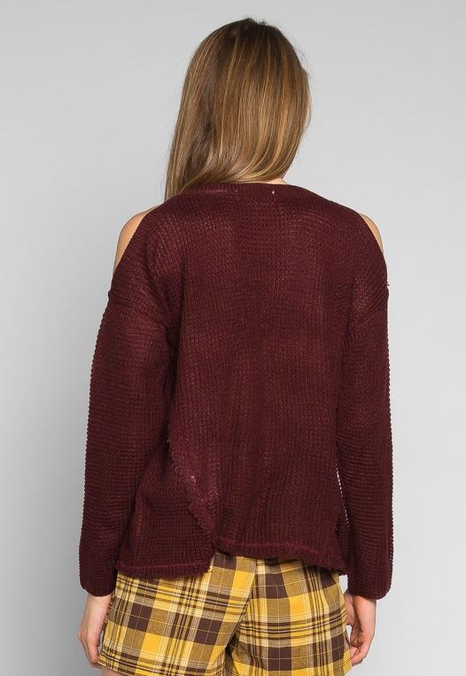 Girls Like You Pullover Sweater in Burgundy alternate img #2