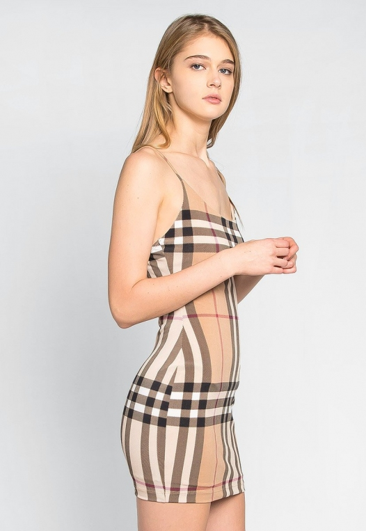 The One Plaid Bodycon Dress alternate img #3