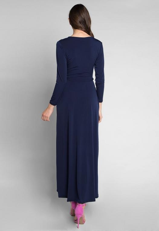 Katherine Wrap Maxi Dress in Navy alternate img #2