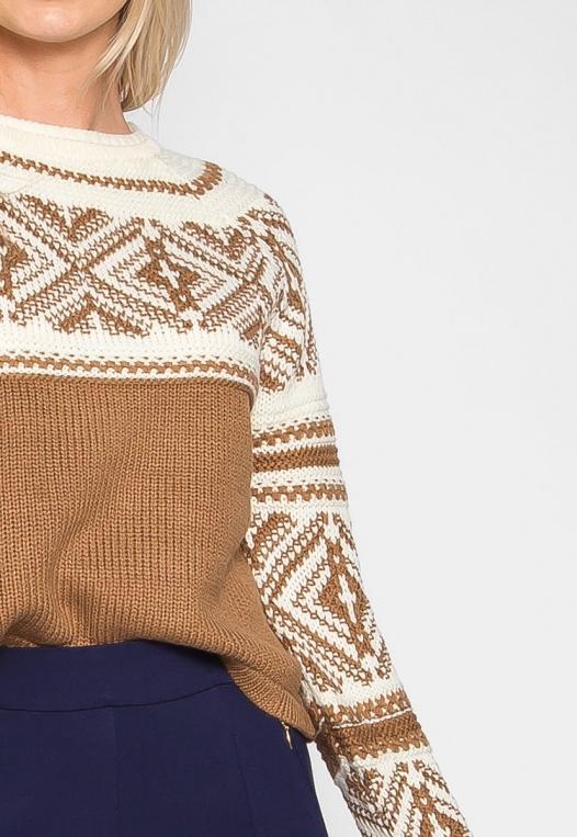 Explorers Geo Pattern Sweater in Brown alternate img #6
