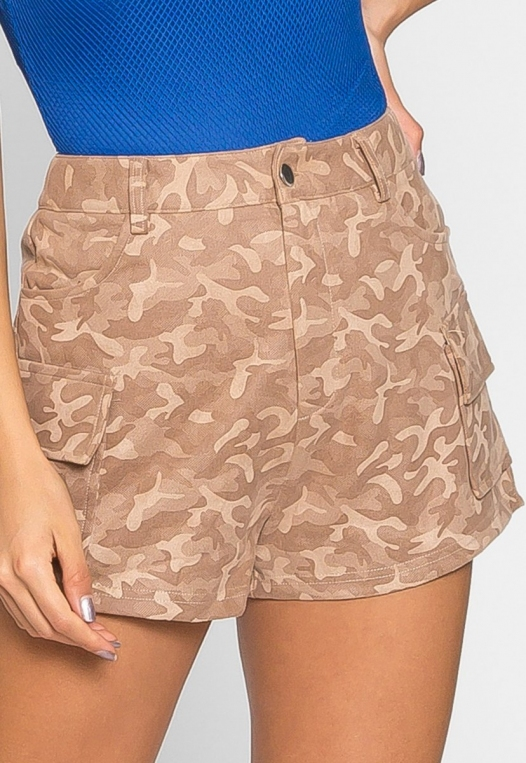 Wild Camo Cargo Shorts alternate img #4