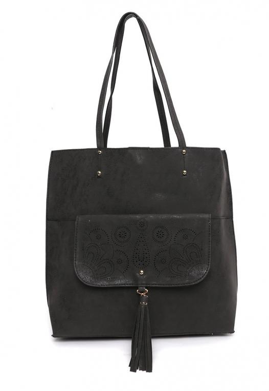 Paisley Perforated Tote Handbag alternate img #1