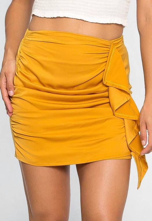 Solstice Ruched Mini Skirt alternate img #3