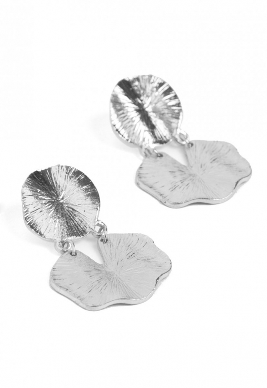 Elusive Statement Earrings in Silver alternate img #1