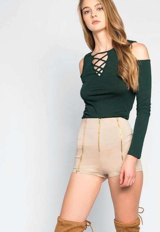 Chainlink High Waist Shorts alternate img #1