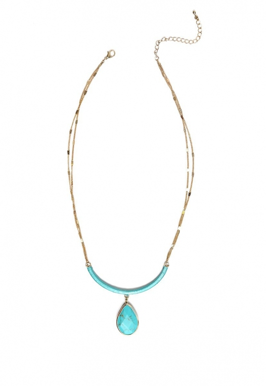 New Mexico Turquoise Tear Drop Necklace alternate img #1