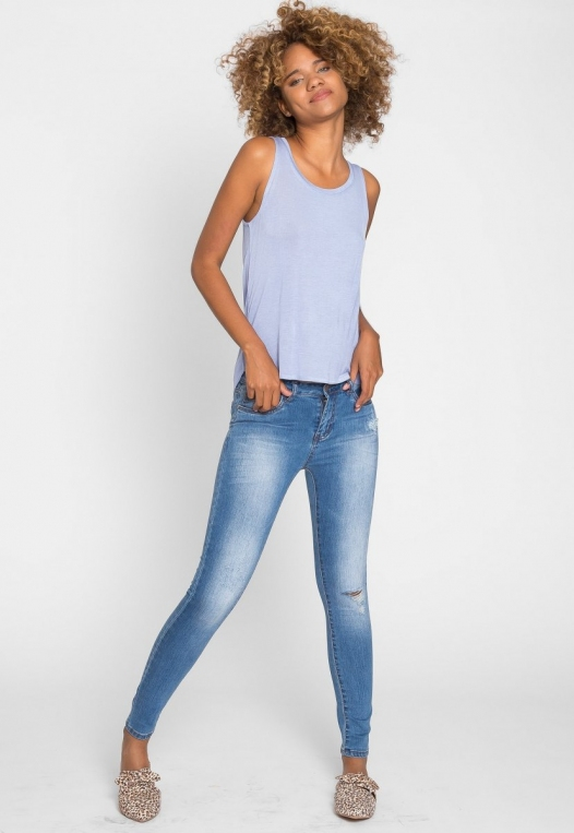 Soft Knit Tank Top in Blue alternate img #5