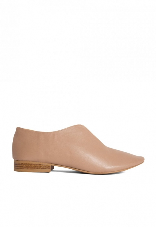 Anchor Pointed Toe Loafer Flats in Taupe alternate img #1