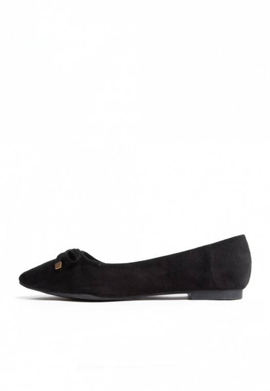 Lee Bow Front Flats in Black alternate img #3