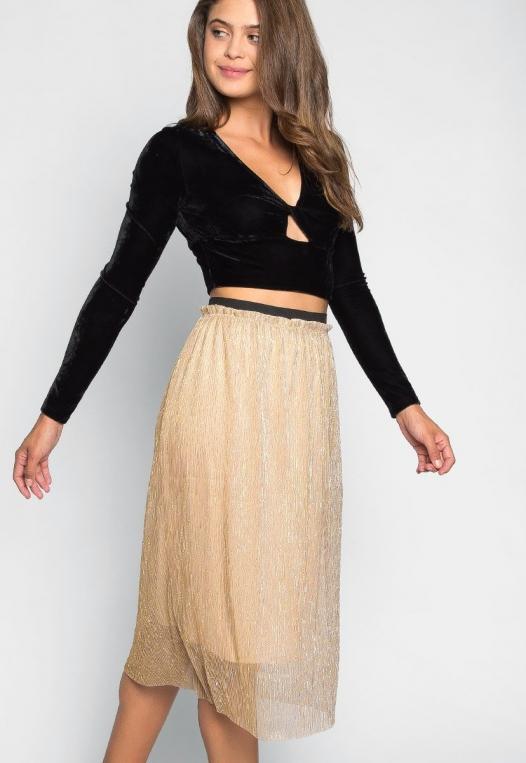 Treasure Metallic Midi Skirt alternate img #5