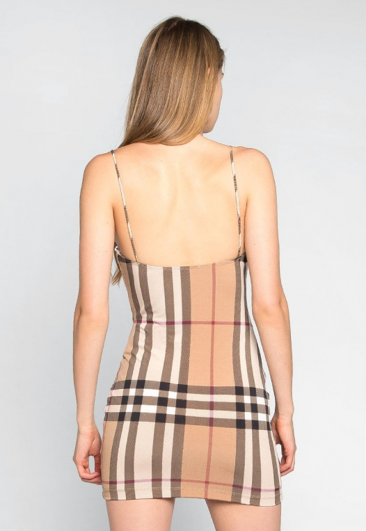 The One Plaid Bodycon Dress alternate img #2