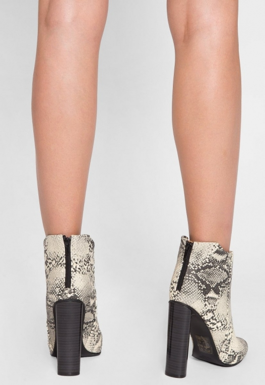 Wild Party Snakeskin Ankle Boots alternate img #3