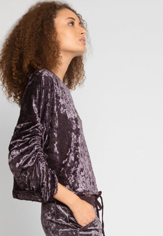 Velvet Evening Crop Sweater alternate img #5