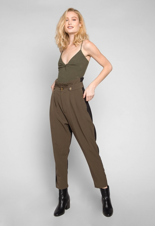 Sparrow Twisted Front Ribbed Bodysuit alternate img #4