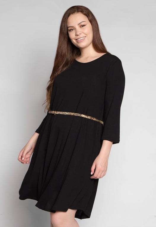 Plus Size Vancouver Dress in Black alternate img #1