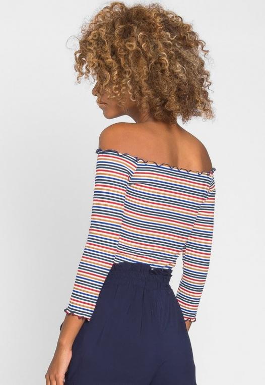 Candy Shop Stripe Off Shoulder Top alternate img #2