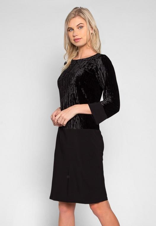 Cool Dance Velvet Top Mini Dress alternate img #1