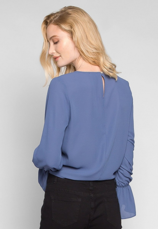 Blue Sky Forever Tie Waist Blouse alternate img #2