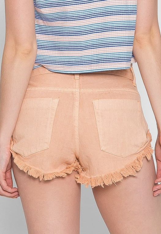 Good Mood Denim Shorts in Sand alternate img #2