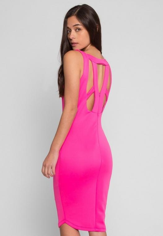 Newport Bodycon Dress in Pink alternate img #4