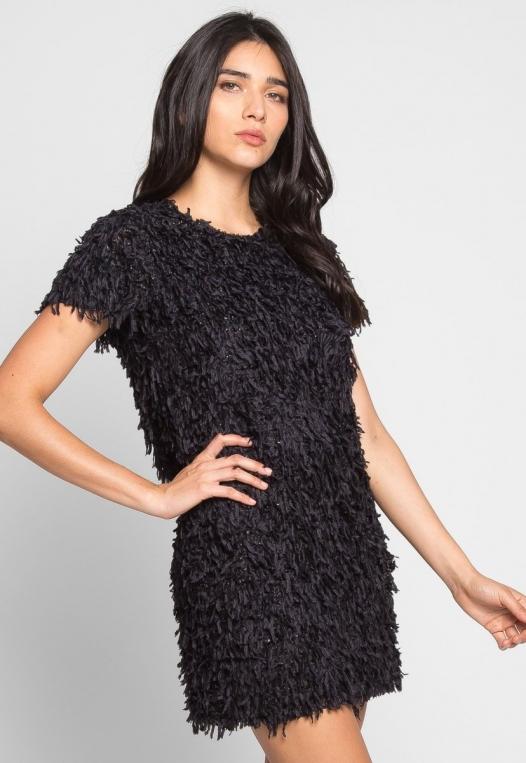 Roaring Fringe Dress in Black alternate img #3