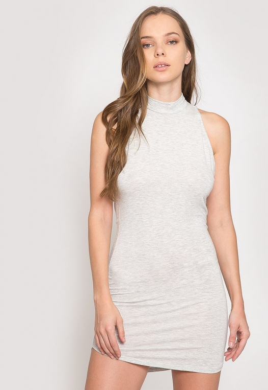 The Original Mock Neck Halter Knit Dress alternate img #5