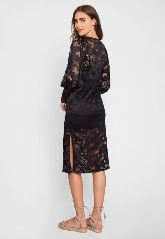 Lovely Lace Midi Dress alternate img #2