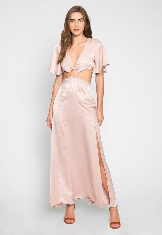 Festive Zip Back Cut Out Dress alternate img #2