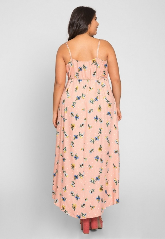 Plus Size Cherry Pie Polka Dot Maxi Dress alternate img #4