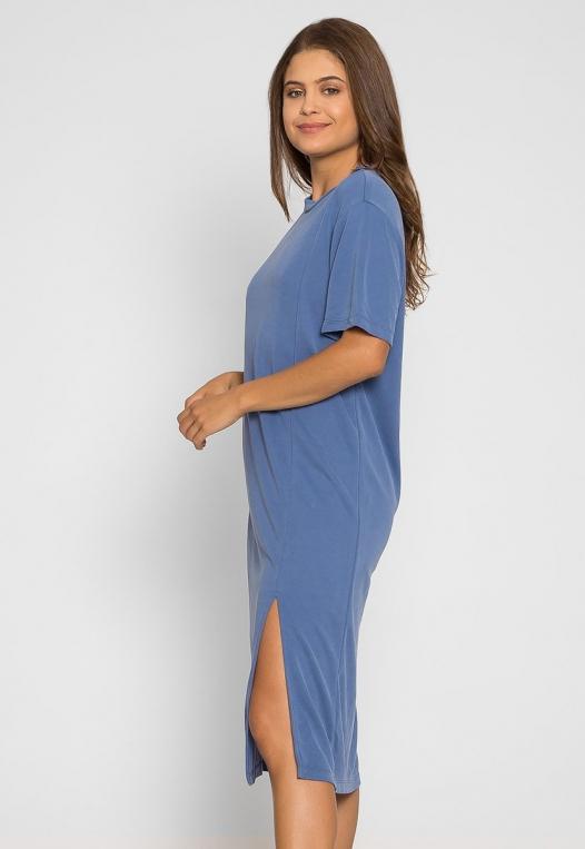 Make it Easy Slit Midi Dress alternate img #3