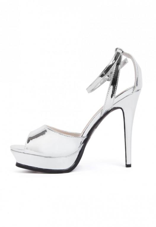Granted Metallic Ankle Strap Heels alternate img #3
