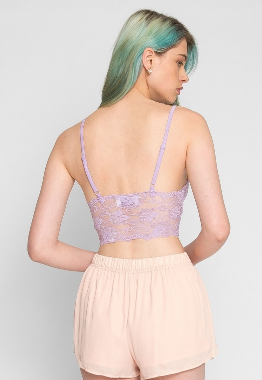 Aroma Light Lace Bralette in Lavender alternate img #4