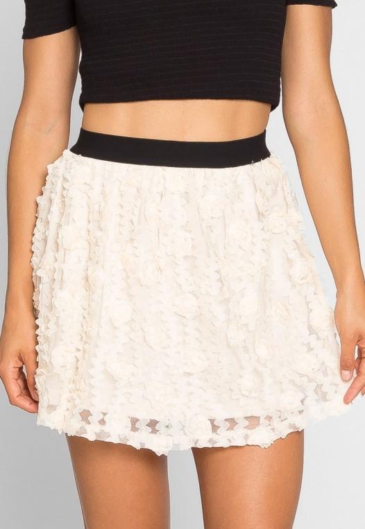 Clover Textured Mini Skirt alternate img #4