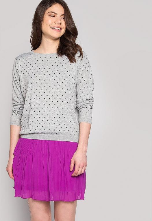 Soft Star Printed Sweater in Gray alternate img #5