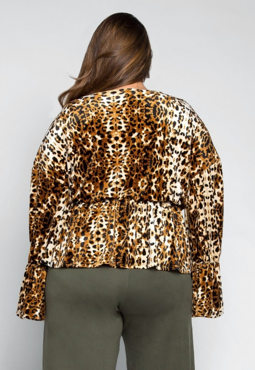 Plus Size Wildcat Wrapped Blouse alternate img #2