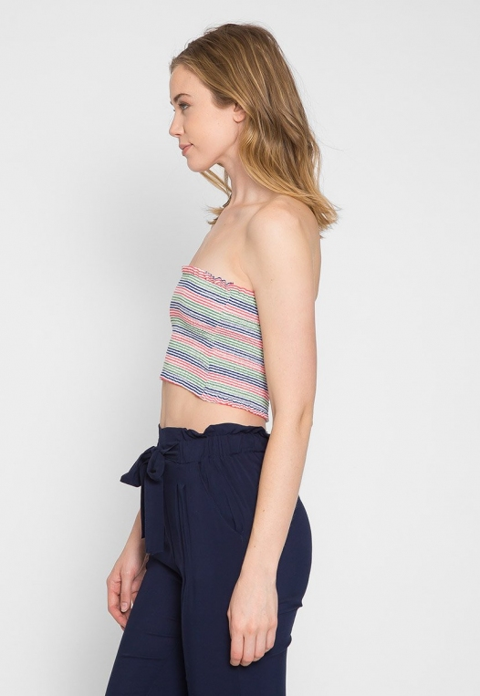 Maybell Tube Top in Pink alternate img #4