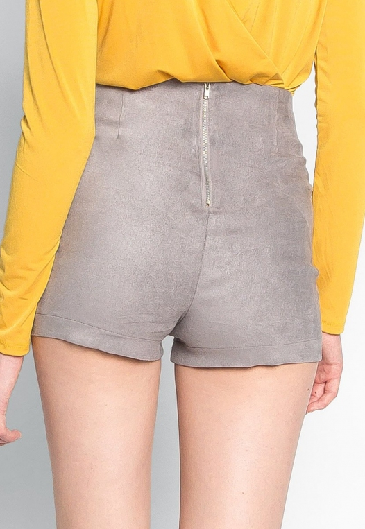 Here To Suede Shorts in Gray alternate img #2