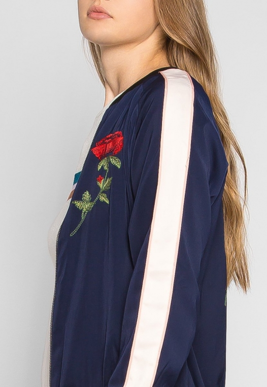 Night Feelings Floral Embroidered Bomber Jacket alternate img #6