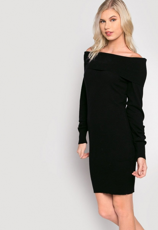 Cosmos Off Shoulder Sweater Dress alternate img #5
