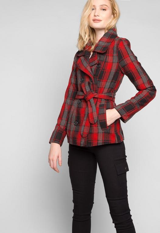 Autumn Belted Plaid Coat alternate img #5