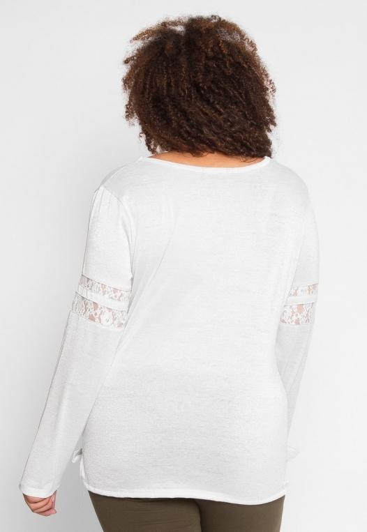 Plus Size University Raglan Sleeve Top in Ivory alternate img #4