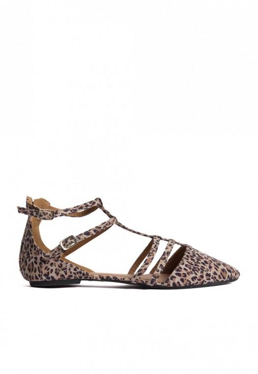 Ditsy Leopard Ballerina Flats alternate img #1