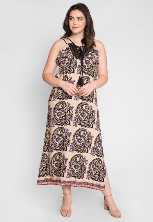Plus Size Stevie Ornate Maxi Dress alternate img #4