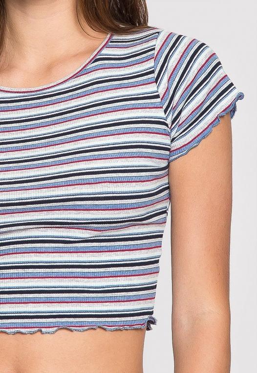Baby Girl Stripe Crop Top in Blue alternate img #6