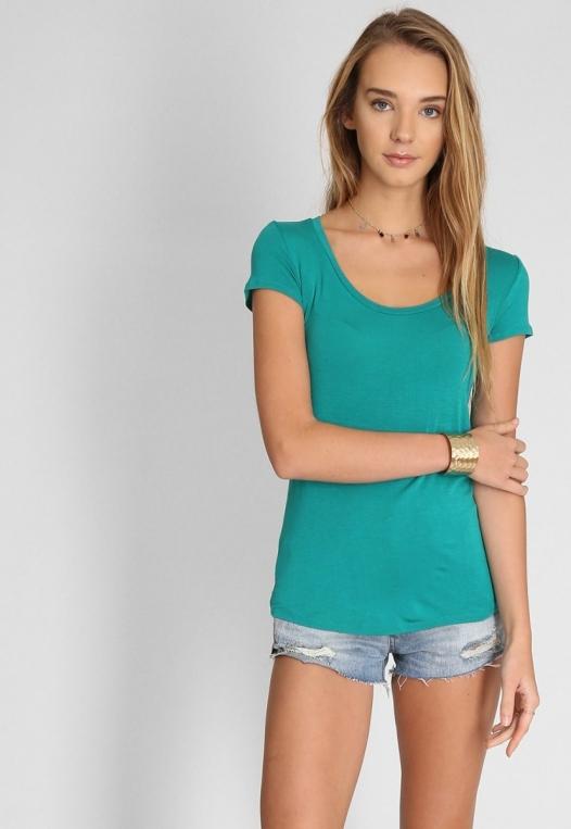 Basic t-shirt in green alternate img #5