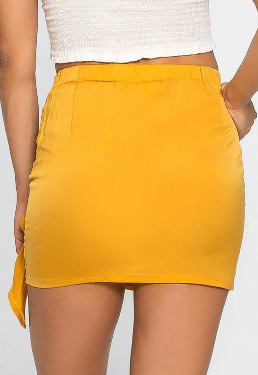 Solstice Ruched Mini Skirt alternate img #2