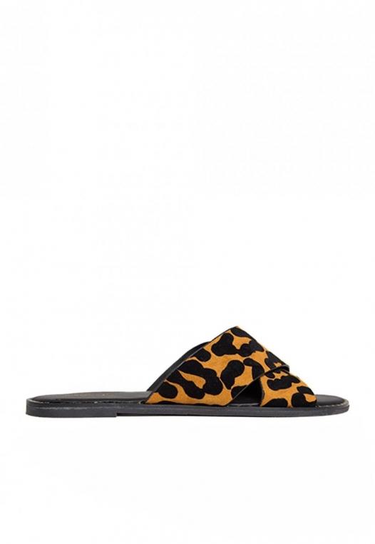 Miranda Leopard Slider Sandals alternate img #1