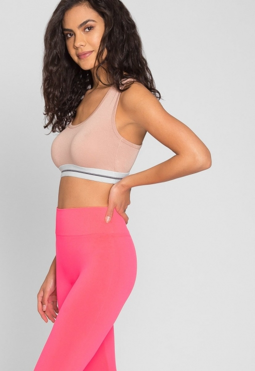 Emery High Waist Leggings in Pink alternate img #6