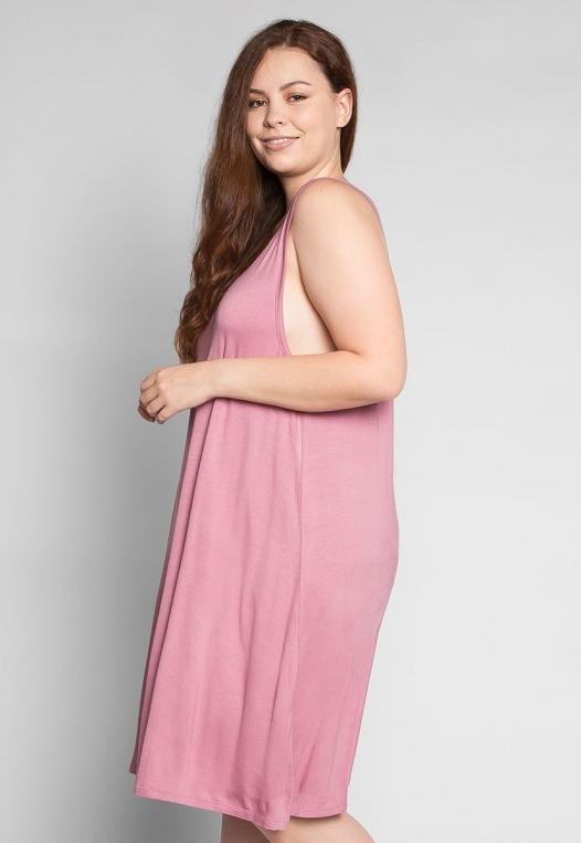 Plus Size Love Stories Tank Dress in Pink alternate img #3